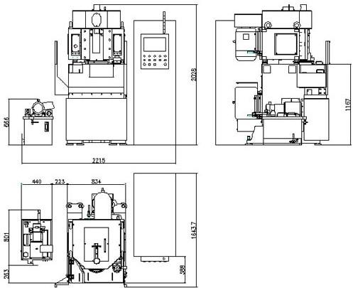 立式平面磨床结构图